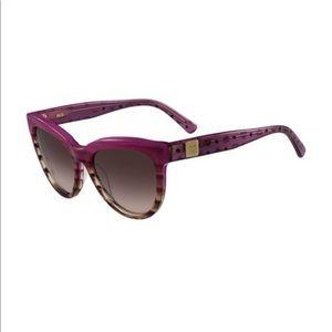 Violet striped MCM logo sunglasses